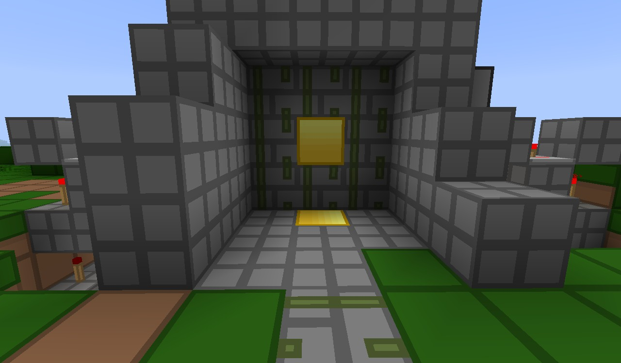Minecraft Piston Door 3x3 3x3 Piston-door Minecraft