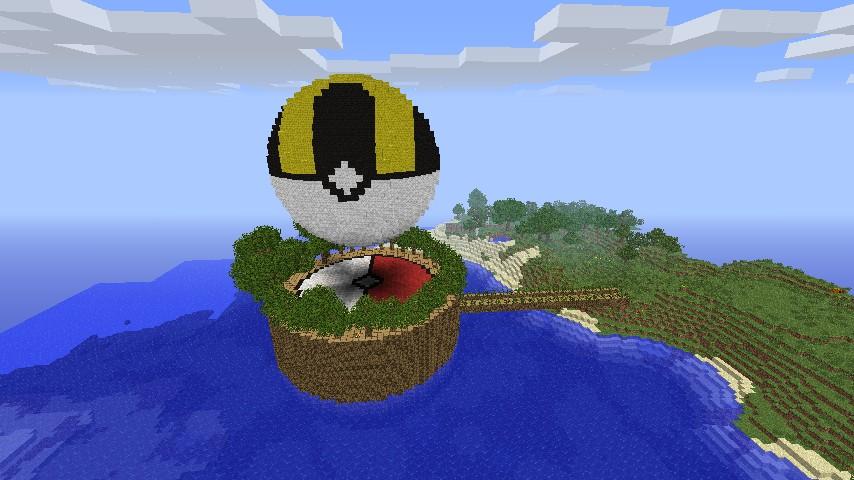 3d Pixel Art Pokeballs Minecraft Project