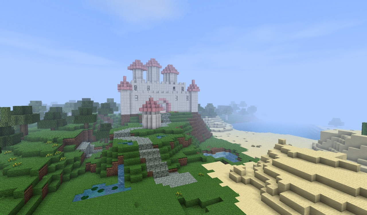 pretty princess castle  unfinished  minecraft project