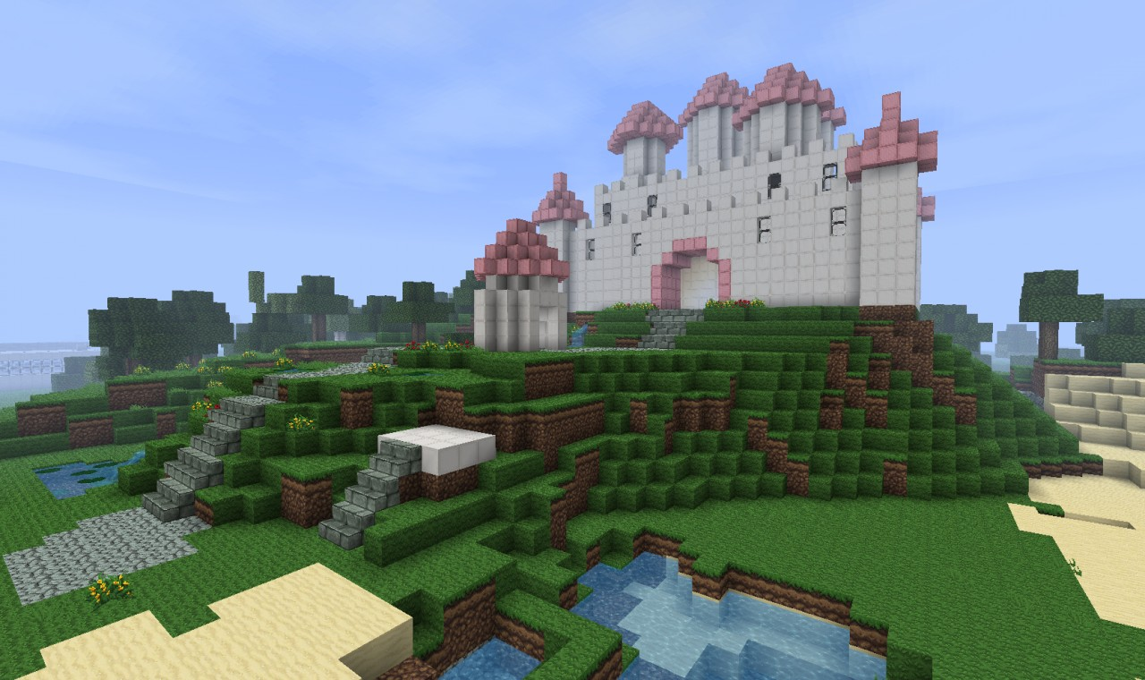 Pretty princess castle unfinished minecraft project for Pretty project
