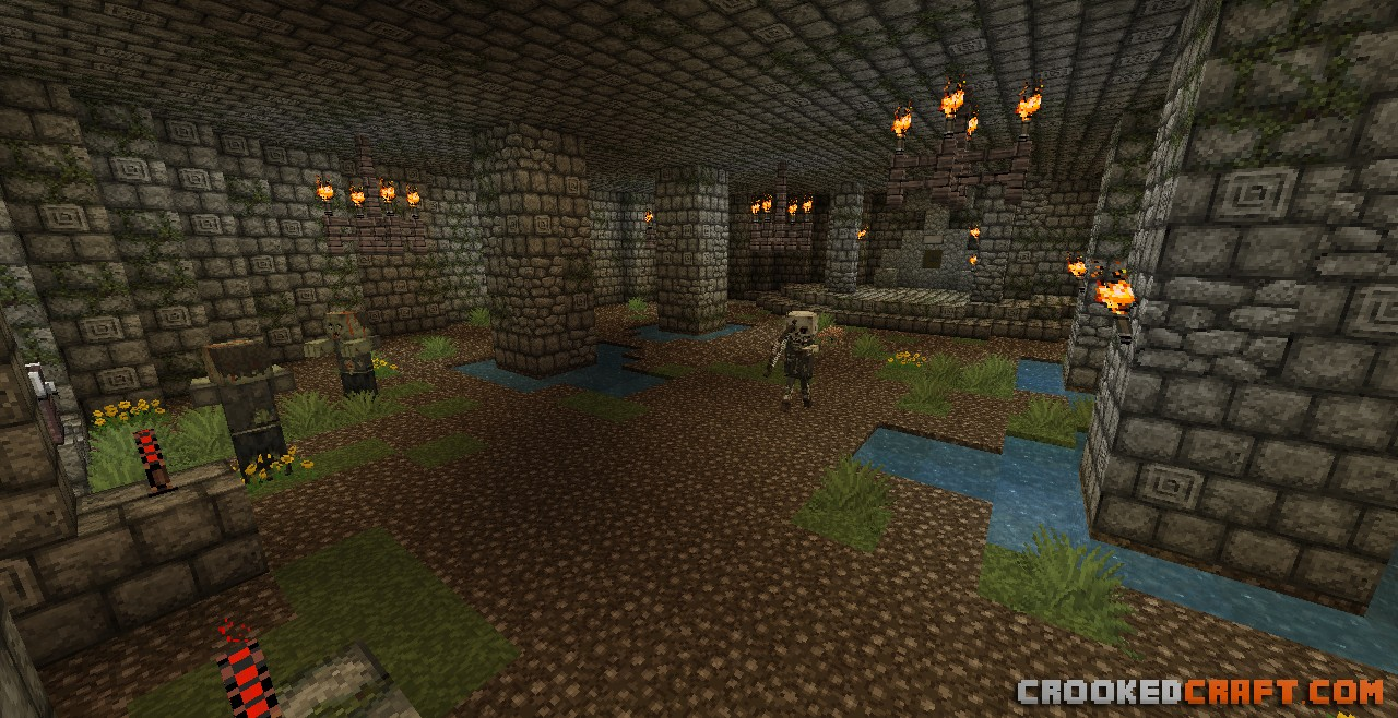 Dungeon Rooms with tons of puzzles and mobs