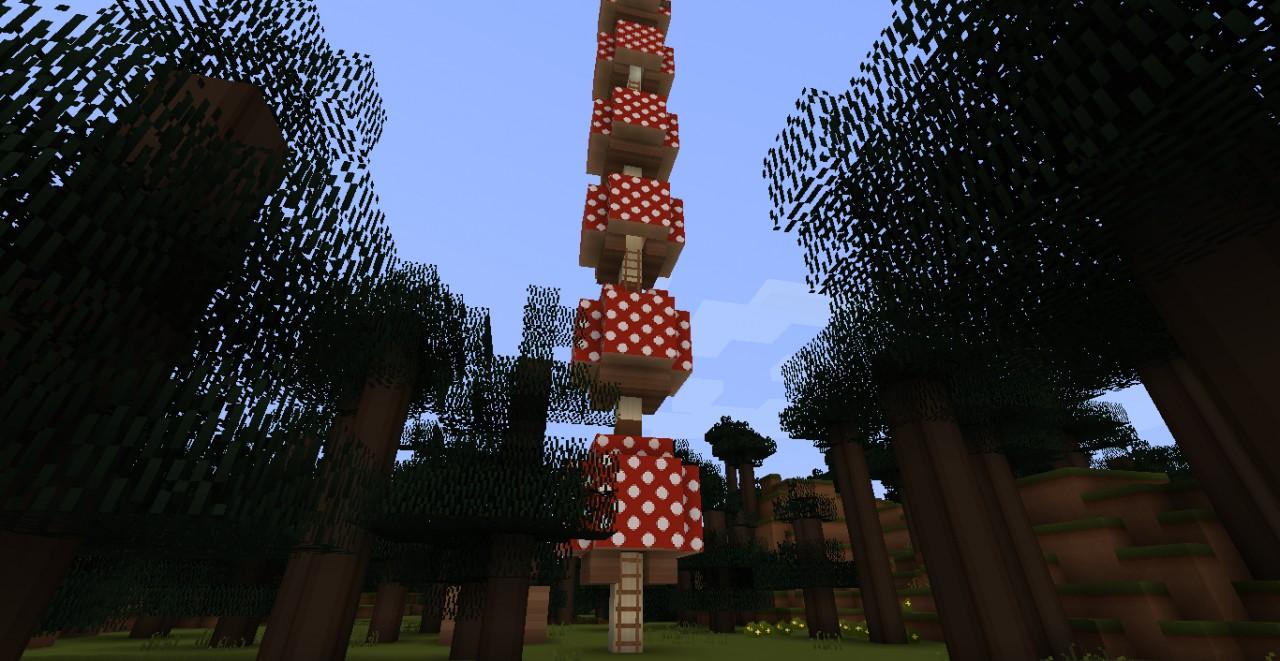 A mushroom tower