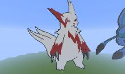 Zangoose Pokemon Pixel Art Minecraft Project