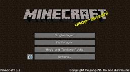 Old Main Menu Minecraft Mod
