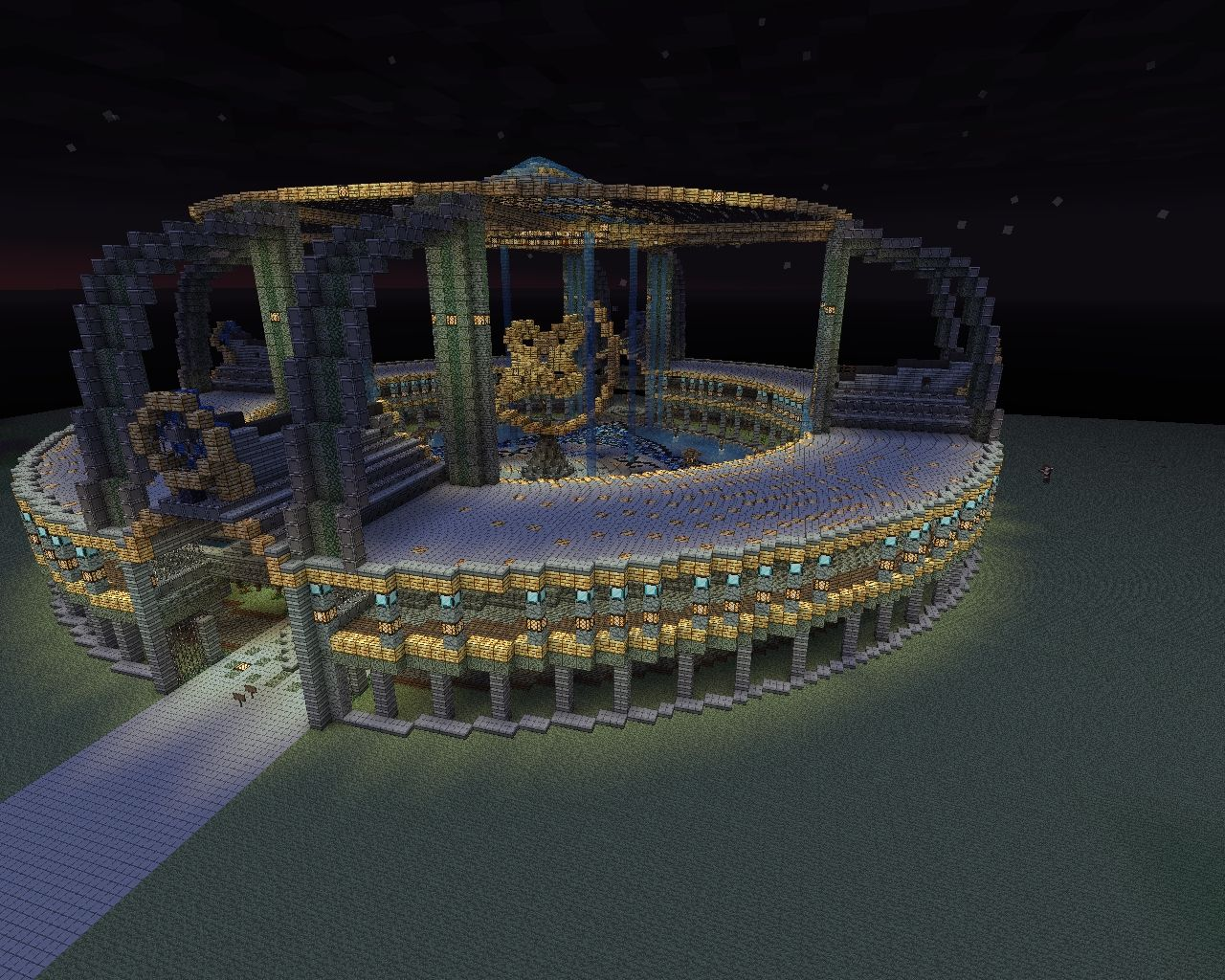 This is our current project we are building a city and this is going to be the center