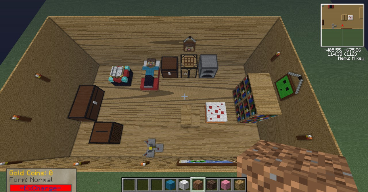 how to open the crafting menu in minecraft