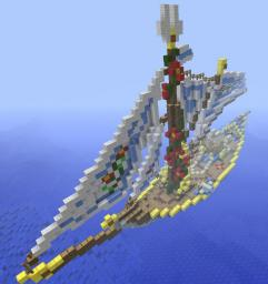Elven ship from a red rose Minecraft