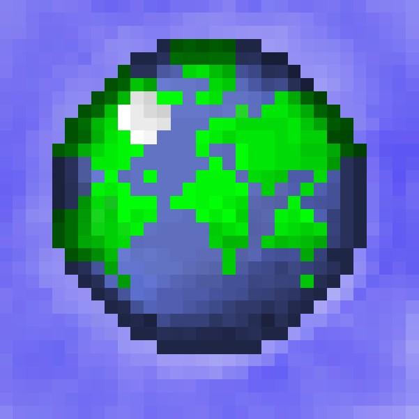 high resolution planet minecraft logo [32x32] Minecraft Project
