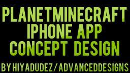 Planetminecraft iPhone App Design Concept! [Speedart] Minecraft Blog Post