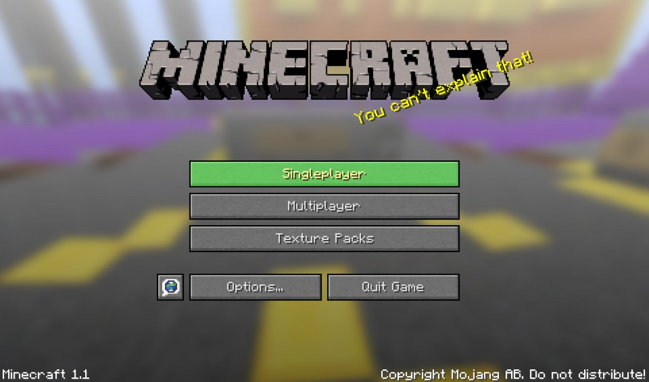 Main Menu, the background is the map.