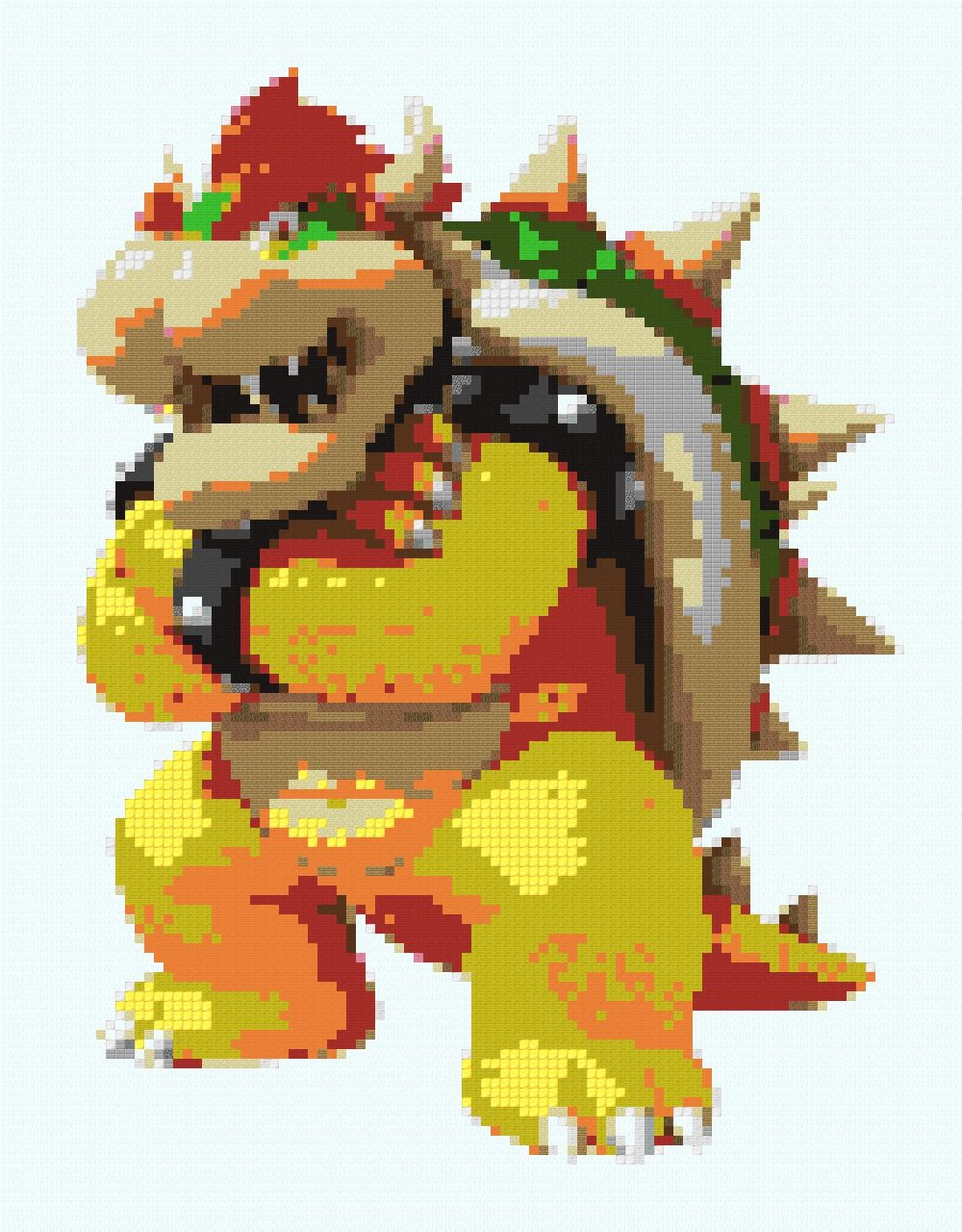 Bowser Pixel Art Minecraft Project