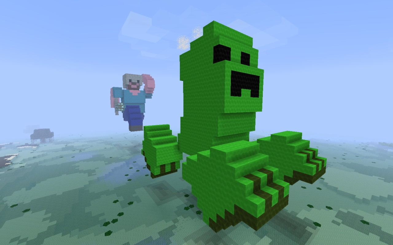 Steve and the creeper minecraft project - Minecraft creeper and steve ...