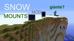Snow Mountains mod 1.1 (Biome) (modloader needed) Minecraft Mod