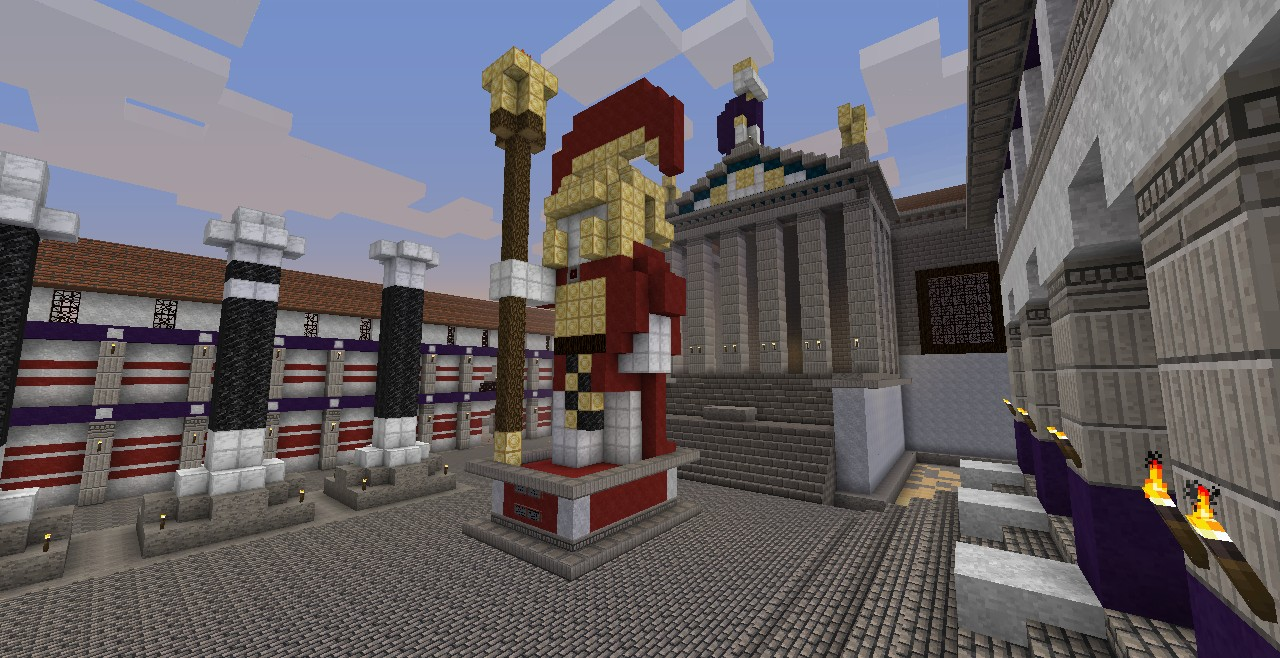 The statue to one of my server admins, Wlhokies (now owner of the server)
