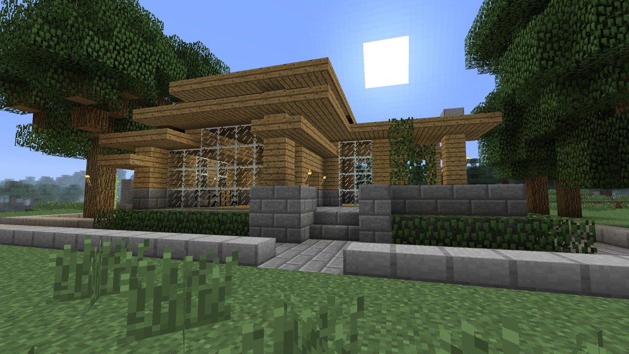 how to create a minecraft modern house
