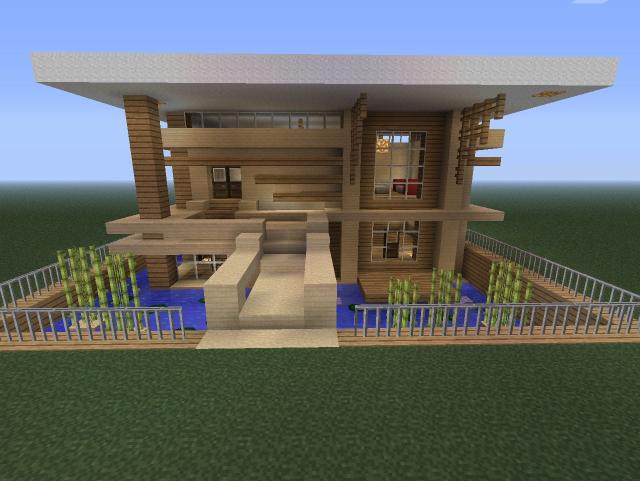 Small Modern home Minecraft Project