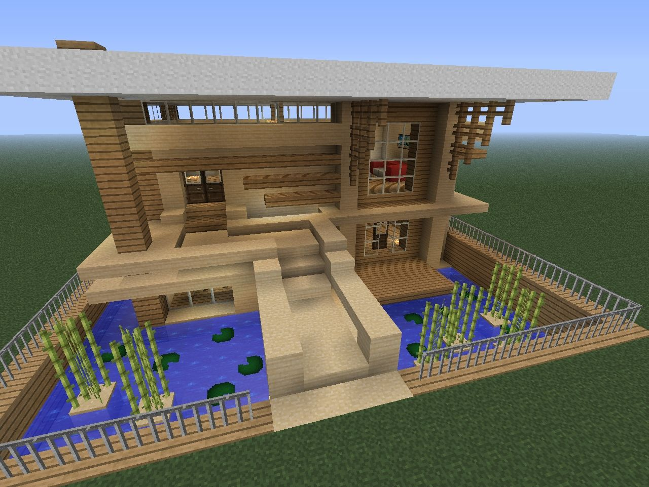 Small modern home minecraft project for Modern house mc