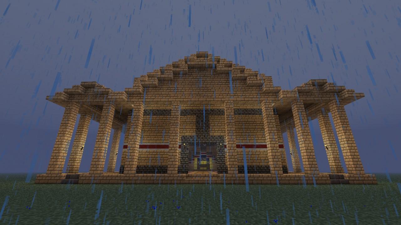 Roman Pantheon Style Building Minecraft Project