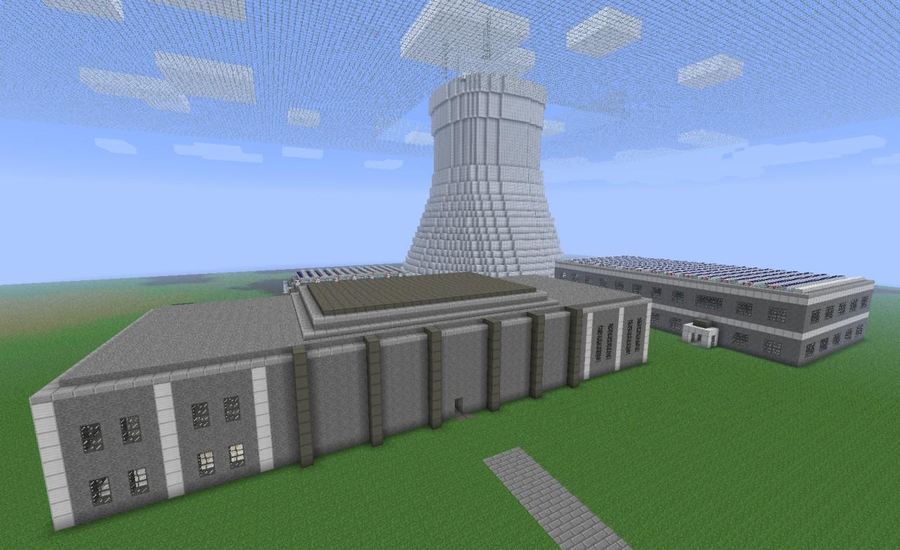 Atomkraftwerk (Nuclear Power Plant) Minecraft Project