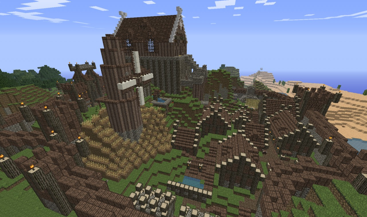 Lord Of The Rings: Rohan [My Take] [Hill Fort] [Medieval ... Minecraft Lord Of The Rings Castle
