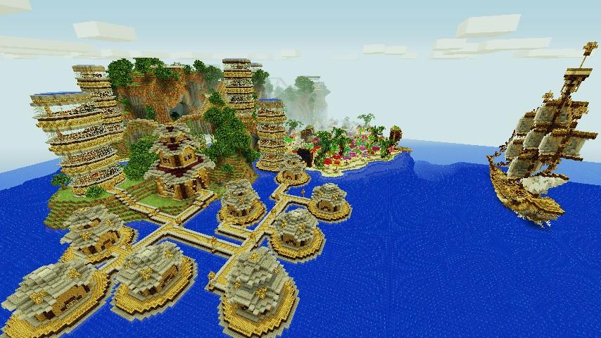 Карта для майнкрафт 1.7.2 красивые большой остров