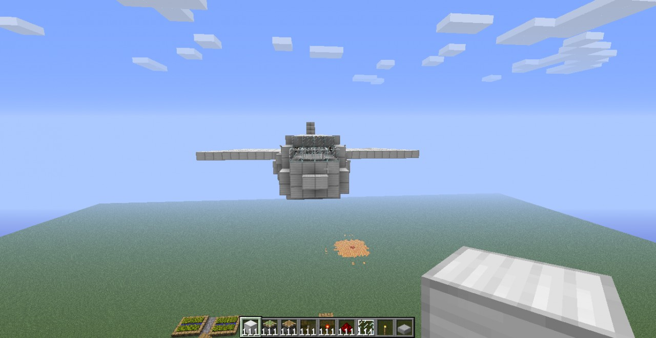 minecraft how to build a plane