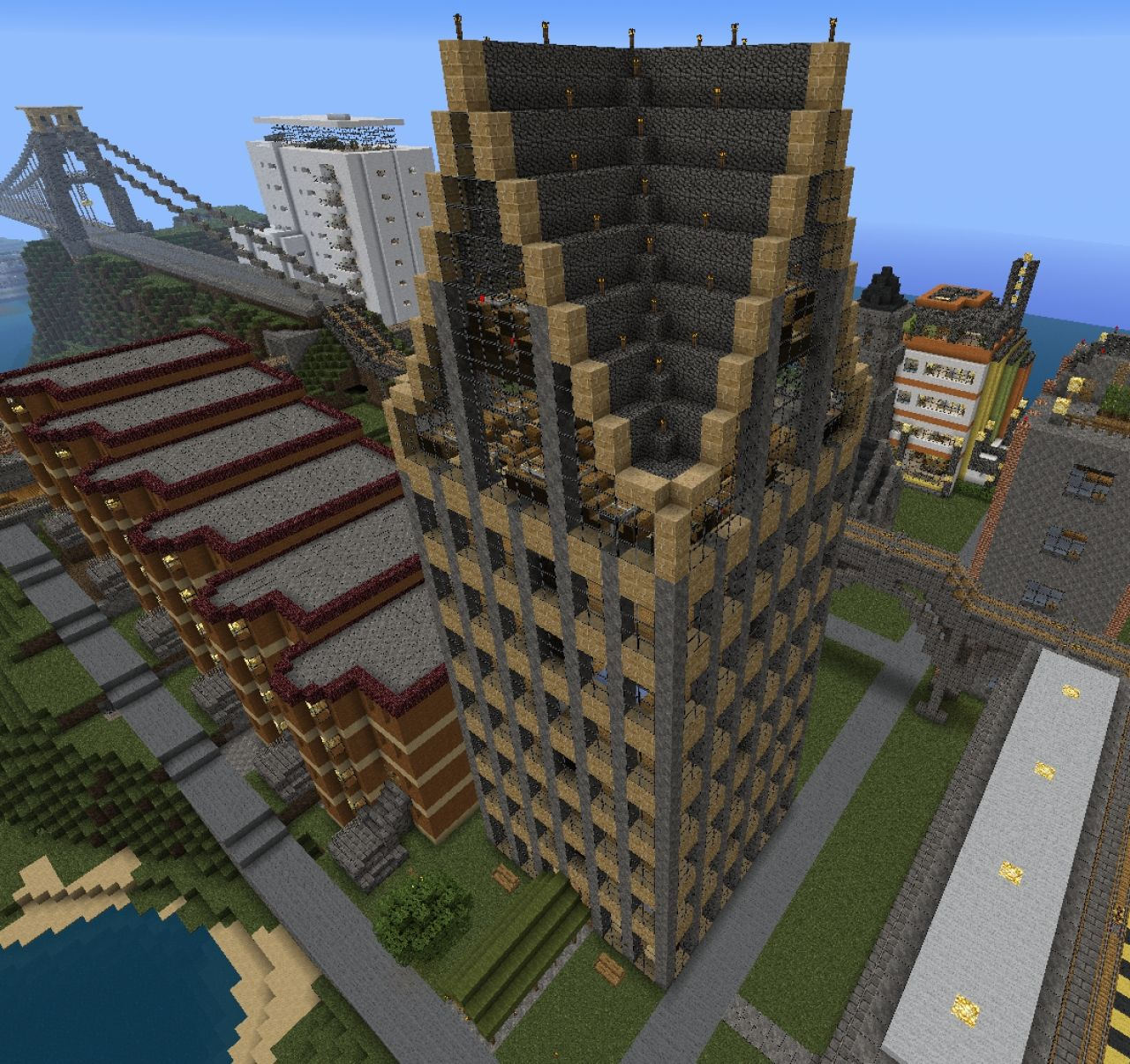 Minecraft Apartment: Wedge Arms Luxury Apartments Minecraft Project