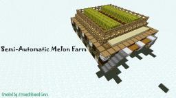 Semi-Automatic Melon Farm Minecraft Map & Project