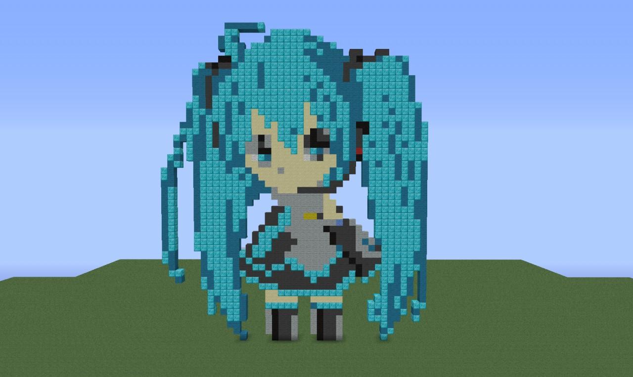 Minecraft anime pixel art