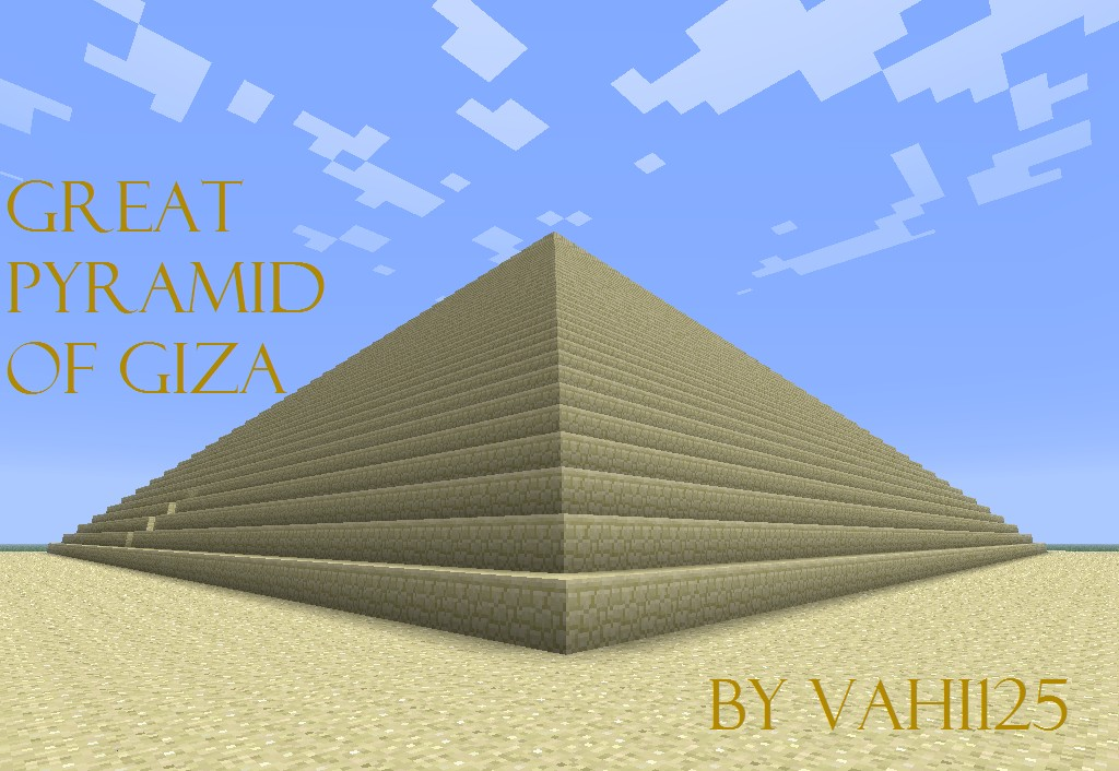 Great Pyramid Of Giza Minecraft Project