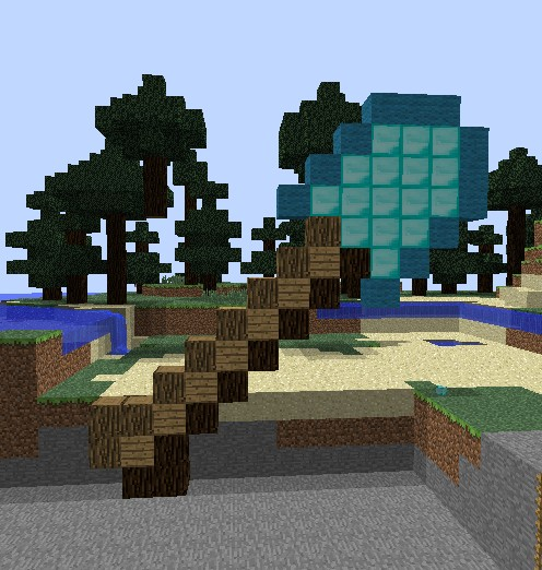 How To Build A Shovel In Minecraft