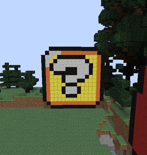 Block Pixel Art Minecraft Project