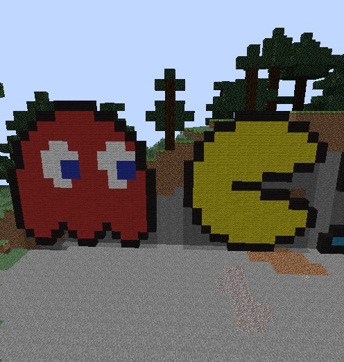 Pacman Pixel Art Minecraft Project  Pacman Pixel Ar...