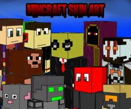 Skins drawing art   CLOSED (template in the description) Minecraft