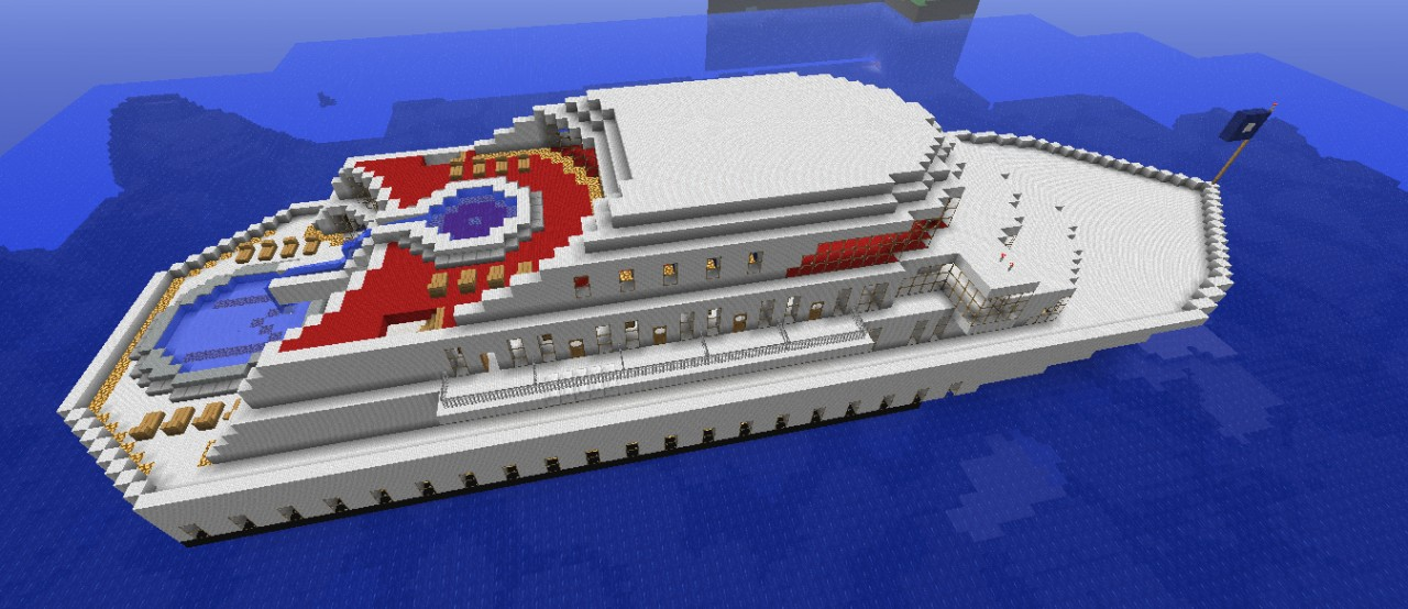 The Majestic Cruise Ship Great Schematic Minecraft Project