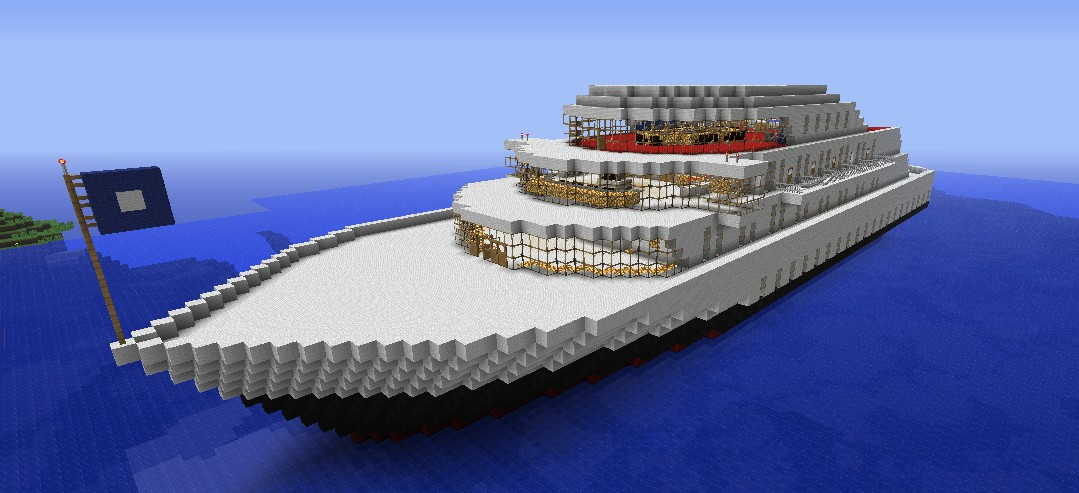 The Majestic Cruise Ship (Great Schematic) Minecraft Map on small boats mod minecraft, small minecraft village, small minecraft ship plans, small minecraft yacht tutorial,