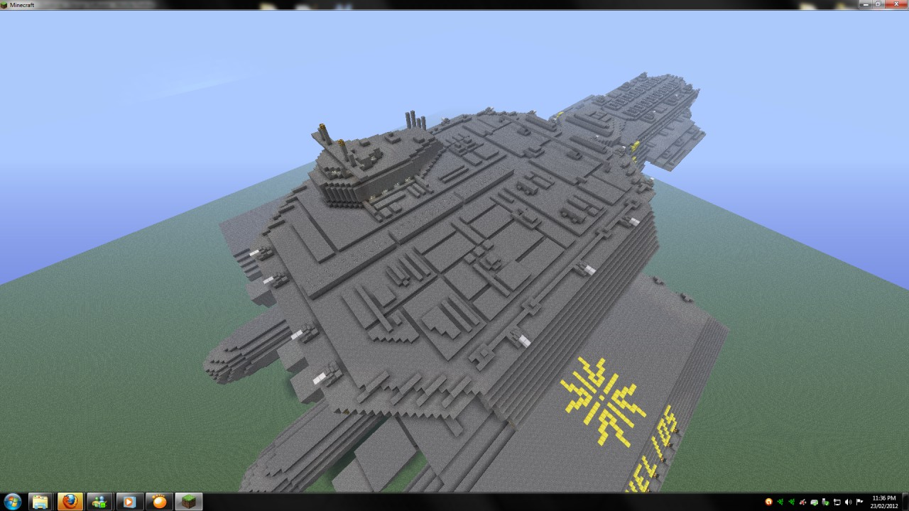 stargate x 304 daedalus class space ship replica minecraft