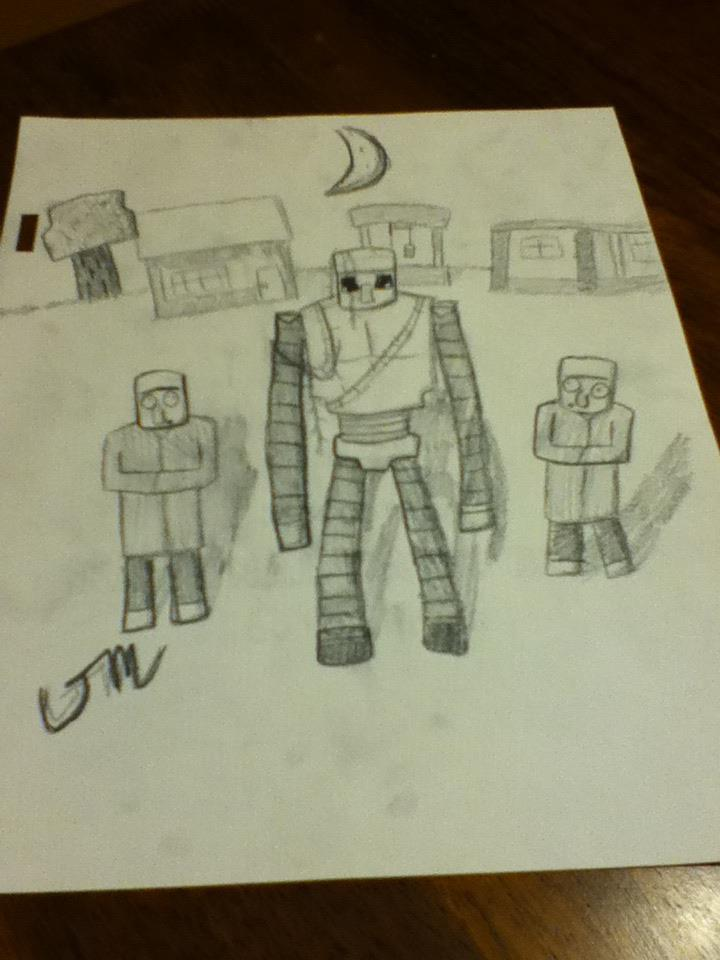 Iron Golem Drawing Minecraft Blog