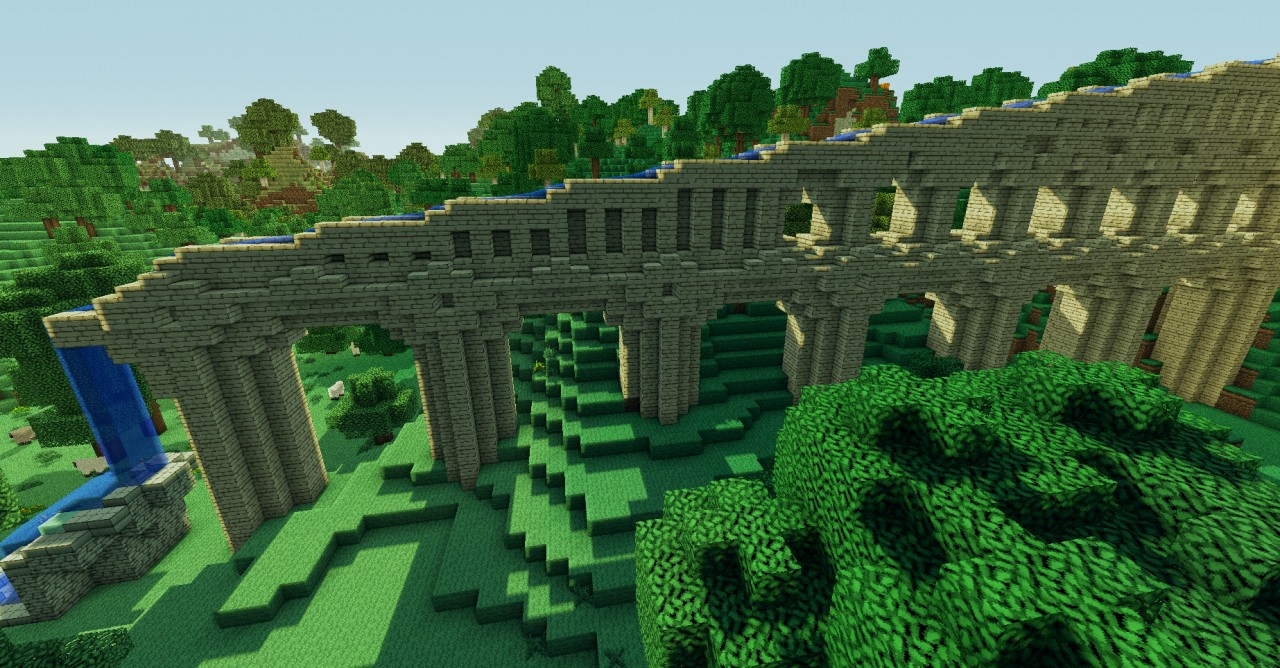 Roman Aqueduct bottem viewRoman Aqueduct