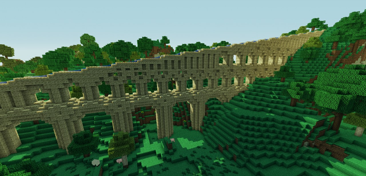Roman Aqueduct side view