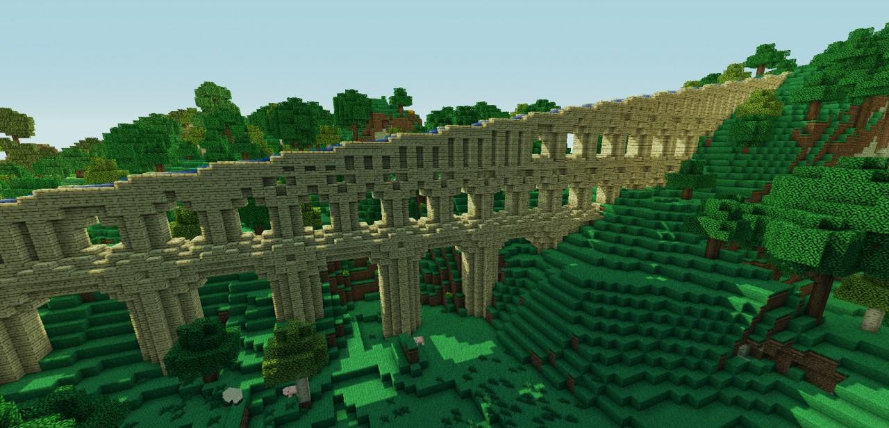 Roman Aqueduct side viewRoman Aqueduct