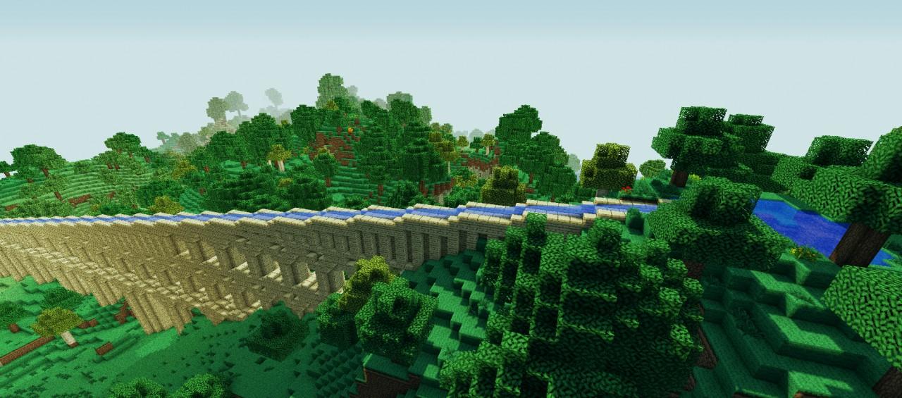 Roman Aqueduct top viewRoman Aqueduct