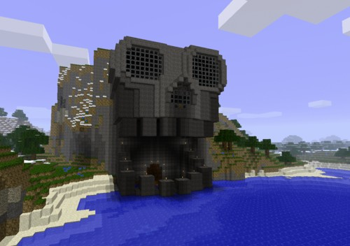Skull head house Minecraft Project