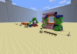 redstone piston doors also 4 by 4 piston door Minecraft Map & Project