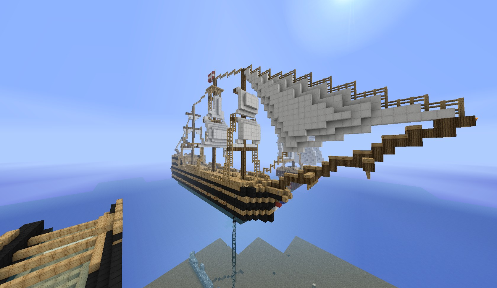 HMS Grafton - An 18th century Ship Of The Line Minecraft Map & Project