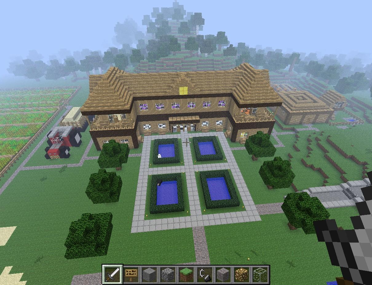Classic house maison classique minecraft project for Maison classique minecraft