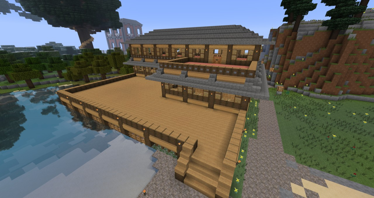 Lodge minecraft project for Minecraft holzhaus