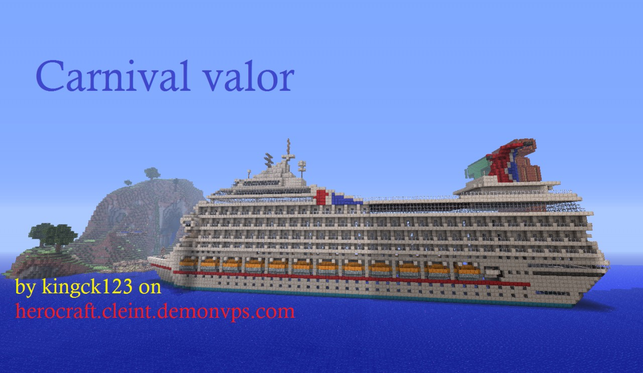 Carnival Valor Cruise Ship Pulling In To Party Island Minecraft - Valor cruise ship