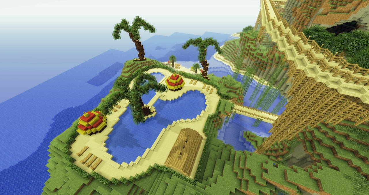 How To Build Swimming Pool In Minecraft