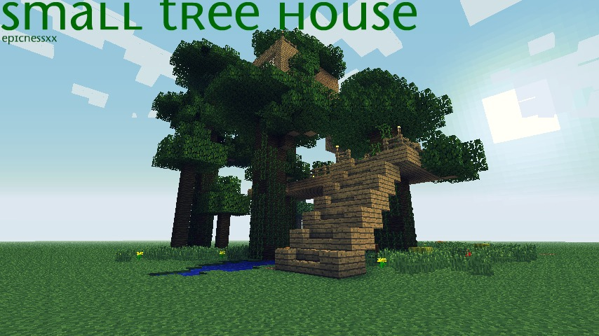 How To Build A Small Treehouse In Minecraft